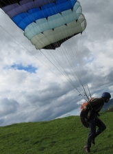 Me doing a forward start with the old glider